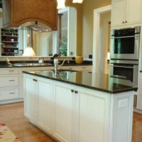 black granite countertop kitchen island