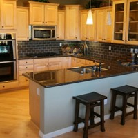 Black Granite U shaped Kitchen Layout
