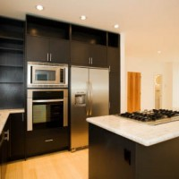 Modern Black Triangle shaped kitchen