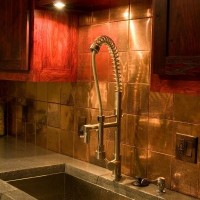 Copper Kitchen Backsplash