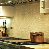 Sculpted Glass Kitchen Backsplash
