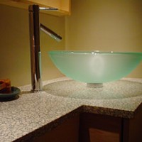 Recycled Glass and Aggregate Kitchen Countertops