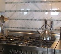 Natural Stone Tile Kitchen Backsplash