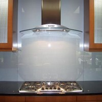 Solid Glass Kitchen Backsplash