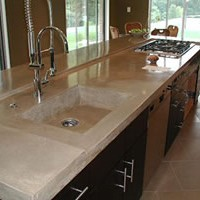 Inlaid Concrete Kitchen Sink