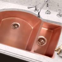 Inlaid Copper Kitchen Sink