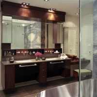 Modern Brown Bathroom Vanity