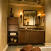 Brown Vanity with Storage