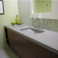 Formed Concrete Bathroom Sink