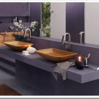 Natural Wood Bathroom Sink