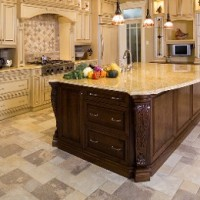 Marble Tile Kitchen Flooring